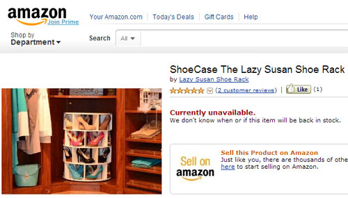 ShoeCase The Lazy Susan Shoe Rack